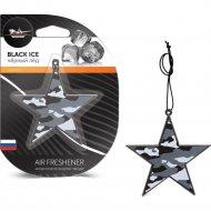 Ароматизатор подвесной пластик «Звезда» черный лед, AFZV004.