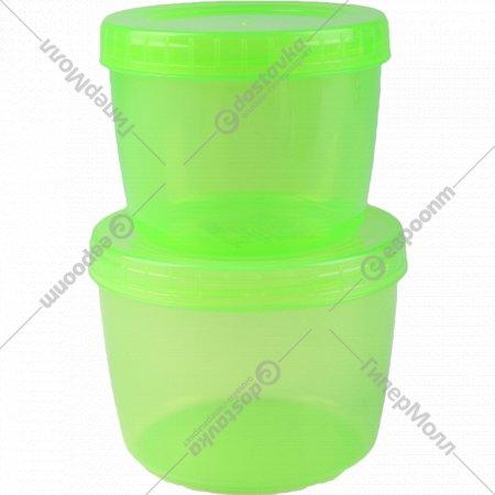 Набор банок «Optimplast» с завинчивающейся крышкой, 0.5 и 0.75 л, 2 шт.