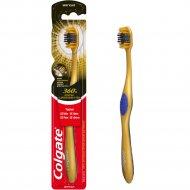 Зубная щетка «Colgate» 360 ° золотая с древесным углем.