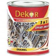 Грунт-эмаль «Dekor» 3в1, Вишневый, 1.9 кг