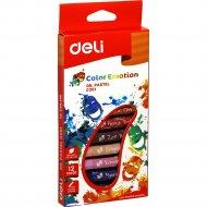 Набор масляной пастели «Deli» 12 цветов.