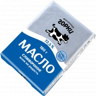 Масло сливочное «Молочные горки» Крестьянское, несоленое, 72.5%, 180 г