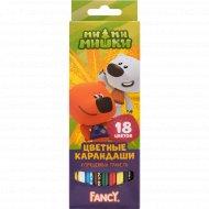 Набор карандашей цветных «Fancy» улучшенный грифель, 18 цветов.
