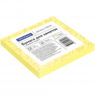 Блок для заметок с липким слоем, 75x75 мм, 100л, желтый.