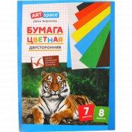 Цветная бумага двусторонняя 7 цветов, 8 листов.