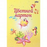 Цветной картон А4 «Рыбки» 8 листов.