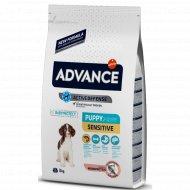Корм для щенков «Advance» с чувствительным пищеварением, лосось, 3 кг.