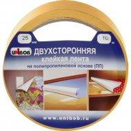 Двухсторонняя клейкая лента «Unibob» (ПП) 25 мм * 10 м.