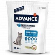 Сухой корм «Advance» для стеризилованных кошек с индейкой, 0.4 кг.