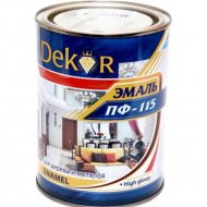 Эмаль «Dekor» ПФ-115, белый матовый, 0.8 кг
