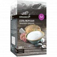 Соль морская пищевая садочная «Organico» М средняя, 500 г.