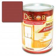 Эмаль «Dekor» для пола, каштан, 0.8 кг