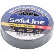 Изолента «SafeLine» серо-стальная, 15 мм/10 м