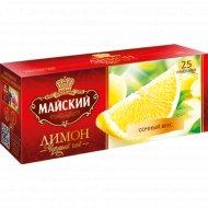 Чай черный «Майский» с ароматом лимона, 25 пакетиков.