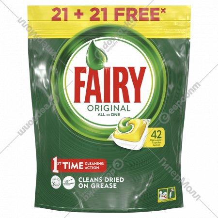 Капсулы для посудомоечной машины «Fairy» Original all in one, 21+21 шт.