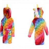 Детский халат «Единорог» размер 140, 51014.