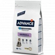 Сухой корм «Advance» для вывода шерсти у кошек, 1.5 кг.