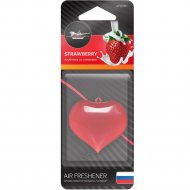 Ароматизатор подвесной «Сердце» клубника со сливками, AFSЕ001.