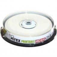 Компакт-диск CD-R «Mirex», Printable Inkjet, 700 Мб, 10шт.