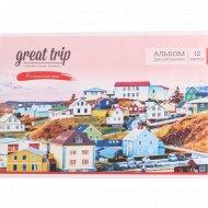 Альбом для рисования «Путешествия. Great trip» 12 листов.