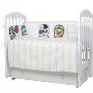 Комплект постельный «Топотушки» Мальчики, голубой, 6 предметов