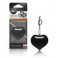 Ароматизатор подвесной «Сердце» черный лед, AFSЕ003.