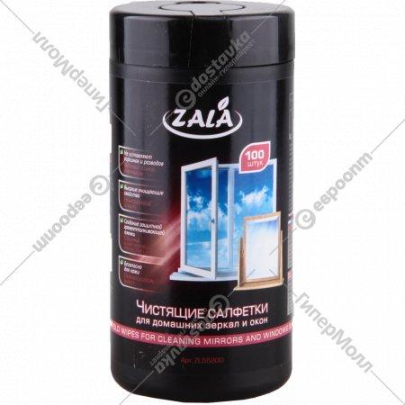 Чистящие салфетки «Zala» для домашних зеркал и окон, 100 шт.