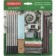 Набор для рисования скетчей «Derwent» Academy Sketching set, 2300365, 19 предметов