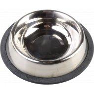 Миска для собаки металлическая 20.5х16х4.5 см.