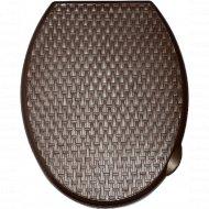 Сиденье для унитаза «Ротанг» коричневый, 112001.
