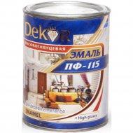 Эмаль «Dekor» ПФ-115, вишневый, 0.8 кг