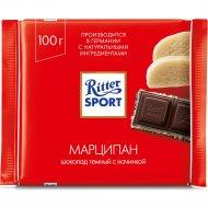 Шоколад тёмный «Ritter Sport» с марципановой начинкой, 100 г.