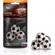 Ароматизатор подвесной «Футбол» бодрящий кофе, AFFO127.