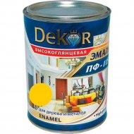 Эмаль «Dekor» ПФ-115, желтый, 0.8 кг