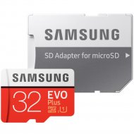 Карта памяти «Samsung» microSD EVO Plus, 32GB.