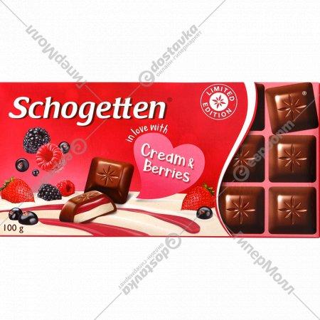 Молочный шоколад «Schogetten» с лесными ягодами, 100 г.