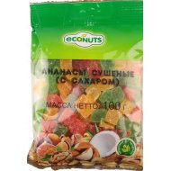 Ананас «Econuts» сушеный с сахаром, 100 г.