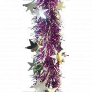 Мишура новогодняя «Созвездие» со звездочками, 200х6.5 см.