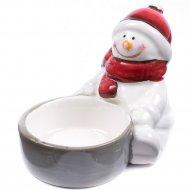 Подсвечник «Снеговик» керамический 10, 5х6, 2х7 см.