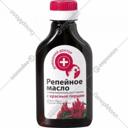 Масло репейное «Домашний доктор» с красным перцем 100 мл.