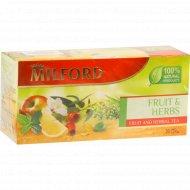 Чайный напиток «Милфорд» фрукты и травы, 20 пакетиков х 1,75 г, 35 г.