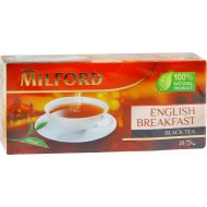 Чай черный «Milford» байховый 20 пакетиков.