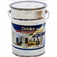 Эмаль «Dekor» ПФ-115, синий, 6 кг