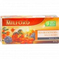Чай черный «Milford» облепиха-лесные ягоды, 20 пакетиков.