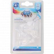 Соска молочная силиконовая «Canpol Babies» для каши, 2 шт.