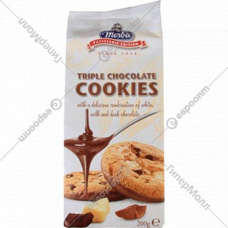 Печенье «Merba» три шоколада 200 г.