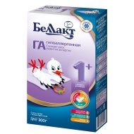 Смесь сухая «Беллакт ГА 1+» гипоаллергенная, 300 г.