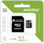 Карта памяти «Smartbuy» 32GB, Class 10, с адаптером.