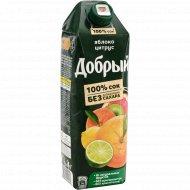 Сок «Добрый» яблоко-цитрус, 1 л.
