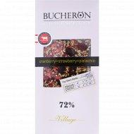 Шоколад горький «Bucheron» с миндалем, клюквой и фисташками 72%, 100 г